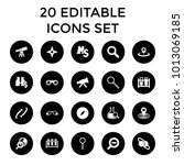 discovery icons. set of 20... | Shutterstock .eps vector #1013069185