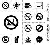 prohibition icons. set of 13...   Shutterstock .eps vector #1013069191