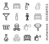 chemical icons. set of 16... | Shutterstock .eps vector #1013069311