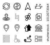 navigation icons. set of 16...   Shutterstock .eps vector #1013073064