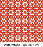 abstract red pattern geometric... | Shutterstock .eps vector #1013074291