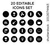 electric icons. set of 20... | Shutterstock .eps vector #1013074465