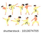 professional martial arts... | Shutterstock .eps vector #1013074705