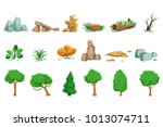 landscape natural elements set... | Shutterstock .eps vector #1013074711