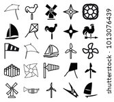wind icons. set of 25 editable... | Shutterstock .eps vector #1013076439