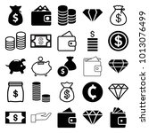 rich icons. set of 25 editable... | Shutterstock .eps vector #1013076499