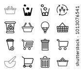 basket icons. set of 16...   Shutterstock .eps vector #1013076541