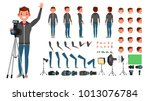 photographer character man... | Shutterstock .eps vector #1013076784