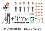 photographer male vector.... | Shutterstock .eps vector #1013076799
