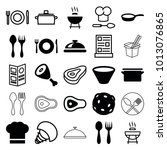 cook icons. set of 25 editable...   Shutterstock .eps vector #1013076865