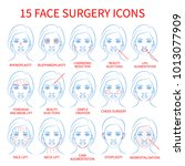 vector illustration  set of 15... | Shutterstock .eps vector #1013077909