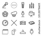 single icons. set of 16... | Shutterstock .eps vector #1013078605