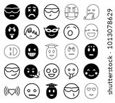 emotion icons. set of 25... | Shutterstock .eps vector #1013078629