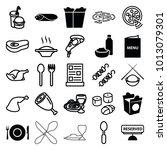 dinner icons. set of 25...   Shutterstock .eps vector #1013079301