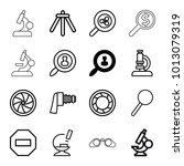 zoom icons. set of 16 editable... | Shutterstock .eps vector #1013079319