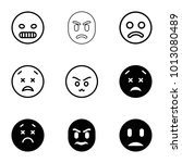 unhappy icons. set of 9...   Shutterstock .eps vector #1013080489
