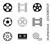 filmstrip icons. set of 9... | Shutterstock .eps vector #1013080519