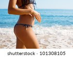 slim figure of a young woman... | Shutterstock . vector #101308105