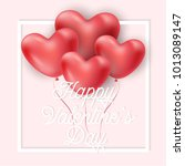 happy valentine's day vector... | Shutterstock .eps vector #1013089147