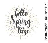 hand drawn lettering phrase ...   Shutterstock .eps vector #1013094115