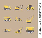 icon construction machinery... | Shutterstock .eps vector #1013096635