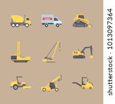 icon construction machinery... | Shutterstock .eps vector #1013097364