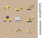 icon construction machinery... | Shutterstock .eps vector #1013097379