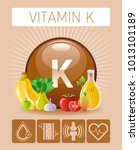vitamin k supplement food icons.... | Shutterstock .eps vector #1013101189