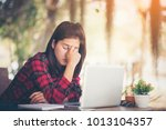 feeling tired and stressed... | Shutterstock . vector #1013104357