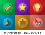 set of icons on buttons on... | Shutterstock .eps vector #1013104765