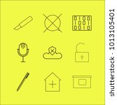 web linear icon set. simple... | Shutterstock .eps vector #1013105401