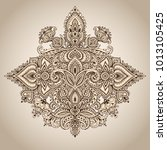 vector pattern of henna floral... | Shutterstock .eps vector #1013105425