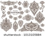 big vector set of henna floral... | Shutterstock .eps vector #1013105884
