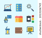 icons about business with stats ... | Shutterstock .eps vector #1013106745