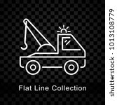 illustration of tow truck icon... | Shutterstock .eps vector #1013108779