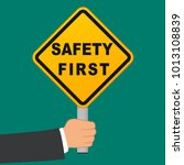 illustration of safety first... | Shutterstock .eps vector #1013108839