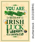 saint patrick day wishings and... | Shutterstock .eps vector #1013108941