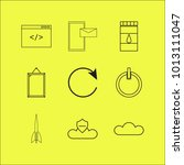 web linear icon set. simple... | Shutterstock .eps vector #1013111047