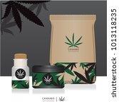cannabis marijuana packaging... | Shutterstock .eps vector #1013118235