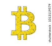bitcoin sign icon  vector... | Shutterstock .eps vector #1013119579