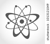 atom icon in flat design. gray... | Shutterstock .eps vector #1013121049