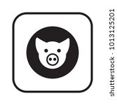 pig icon  isolated. flat design. | Shutterstock .eps vector #1013125201