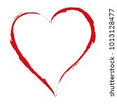 red heart drawing with the... | Shutterstock . vector #1013128477