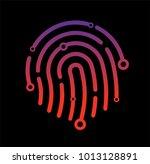 abstract technology logo ... | Shutterstock .eps vector #1013128891
