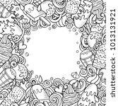 cartoon vector hand drawn... | Shutterstock .eps vector #1013131921