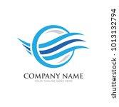 wave logo design | Shutterstock .eps vector #1013132794