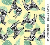 sketch seamless pattern with... | Shutterstock . vector #1013142484