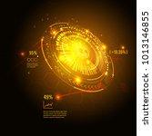 sci fi futuristic user... | Shutterstock .eps vector #1013146855