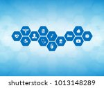 medical background and icons to ... | Shutterstock .eps vector #1013148289