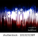 abstract image of the american... | Shutterstock .eps vector #1013151589